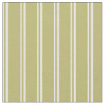 [ Thumbnail: Light Yellow and Dark Khaki Lines/Stripes Pattern Fabric ]