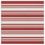 [ Thumbnail: Light Yellow and Dark Red Lines Pattern Fabric ]