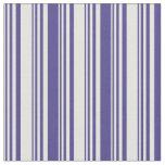 [ Thumbnail: Light Yellow and Dark Slate Blue Stripes Pattern Fabric ]