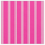 [ Thumbnail: Light Yellow and Deep Pink Pattern of Stripes Fabric ]
