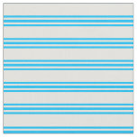 [ Thumbnail: Light Yellow and Deep Sky Blue Colored Lines Fabric ]