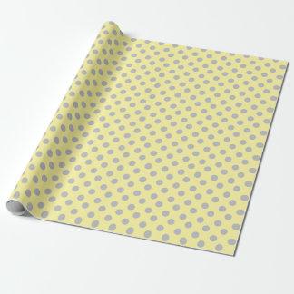 Light Yellow and Gray Polka Dots Gift Wrap