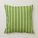 [ Thumbnail: Light Yellow and Green Colored Lines Throw Pillow ]