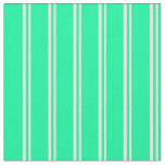 [ Thumbnail: Light Yellow and Green Lines/Stripes Pattern Fabric ]