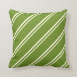 [ Thumbnail: Light Yellow and Green Pattern Throw Pillow ]