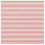 [ Thumbnail: Light Yellow and Light Coral Lines Fabric ]