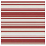 [ Thumbnail: Light Yellow and Maroon Colored Lines Fabric ]