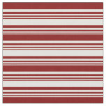 [ Thumbnail: Light Yellow and Maroon Colored Lines Pattern Fabric ]