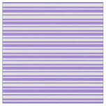 [ Thumbnail: Light Yellow and Purple Pattern of Stripes Fabric ]