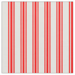 [ Thumbnail: Light Yellow and Red Colored Lines Fabric ]