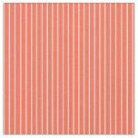 [ Thumbnail: Light Yellow and Red Colored Lines Pattern Fabric ]