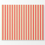 [ Thumbnail: Light Yellow and Red Colored Lines Wrapping Paper ]