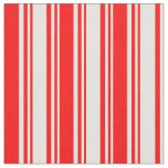 [ Thumbnail: Light Yellow and Red Lines/Stripes Pattern Fabric ]