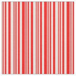 [ Thumbnail: Light Yellow and Red Stripes Pattern Fabric ]