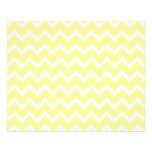 """Light Yellow and White Zigzags. 4.5"""" X 5.6"""" Flyer"""