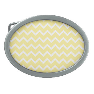 Light Yellow and White Zigzags. Belt Buckles