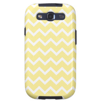 Light Yellow and White Zigzags Samsung Galaxy SIII Covers