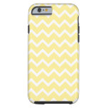 Light Yellow and White Zigzags. Tough iPhone 6 Case