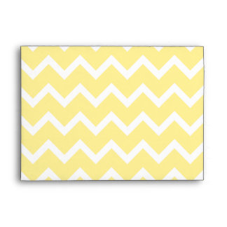 Light Yellow and White Zigzags. Envelope