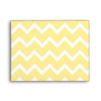 Light Yellow and White Zigzags. Envelopes