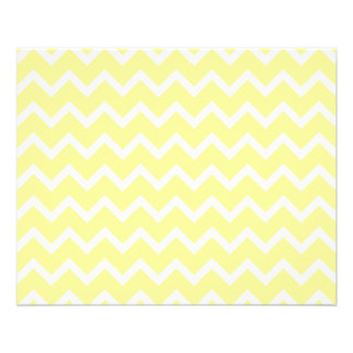 Light Yellow and White Zigzags. Flyer