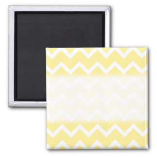 Light Yellow and White Zigzags Magnet