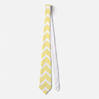 Light Yellow and White Zigzags. Neck Tie
