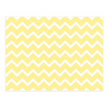 Light Yellow and White Zigzags. Post Card
