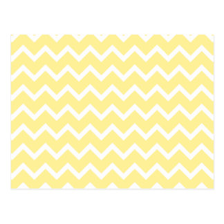 Light Yellow and White Zigzags. Postcard