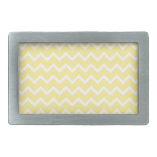 Light Yellow and White Zigzags. Rectangular Belt Buckles