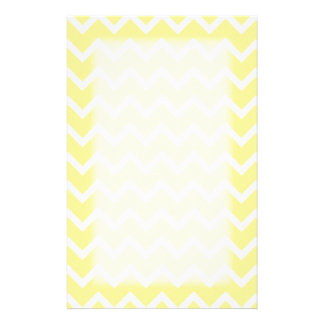 Light Yellow and White Zigzags Stationery Paper