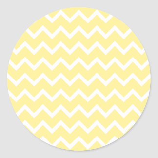Light Yellow and White Zigzags Sticker