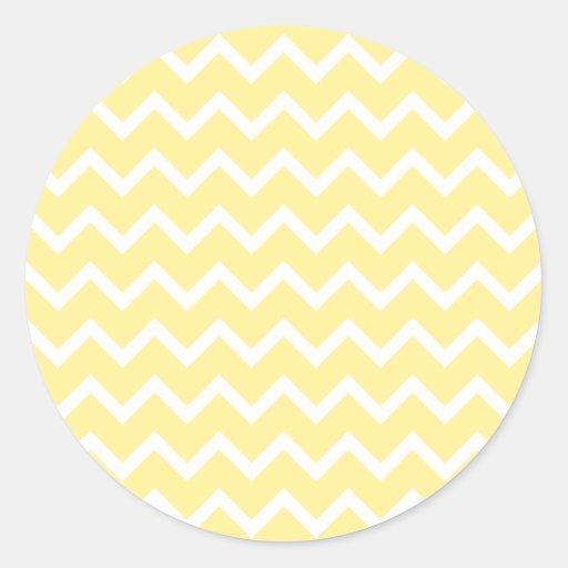 Light Yellow and White Zigzags. Sticker