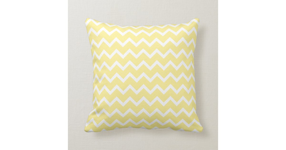Light Yellow and White Zigzags. Throw Pillow Zazzle