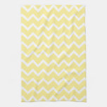 Light Yellow and White Zigzags. Towels