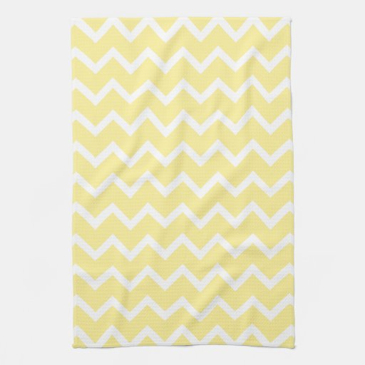 Light Yellow And White Zigzags Towels Zazzle