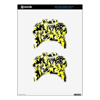 Light Yellow, Black and White mix -SK- Xbox 360 Controller Skins