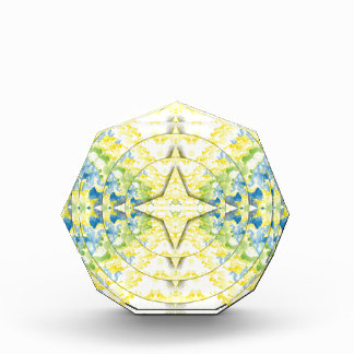 Light Yellow Blue Circular Artistic Pattern Award