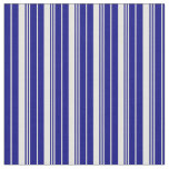 [ Thumbnail: Light Yellow & Blue Colored Stripes/Lines Pattern Fabric ]