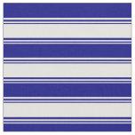 [ Thumbnail: Light Yellow & Blue Lines Pattern Fabric ]