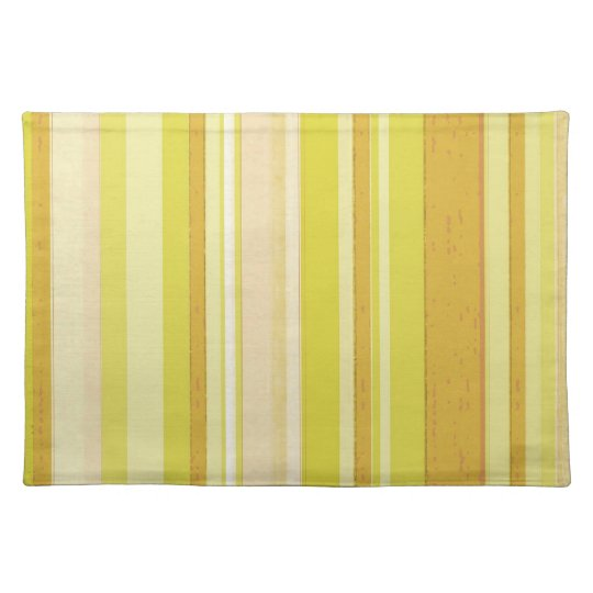 light yellow color strips cloth placemat