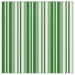 [ Thumbnail: Light Yellow & Dark Green Colored Lines Fabric ]