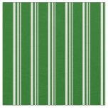[ Thumbnail: Light Yellow & Dark Green Colored Lines Pattern Fabric ]