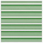 [ Thumbnail: Light Yellow & Dark Green Colored Stripes Fabric ]