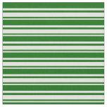 [ Thumbnail: Light Yellow & Dark Green Colored Stripes Pattern Fabric ]