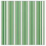 [ Thumbnail: Light Yellow & Dark Green Lined/Striped Pattern Fabric ]