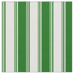 [ Thumbnail: Light Yellow & Dark Green Striped Pattern Fabric ]