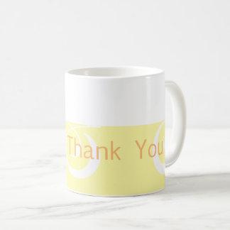 Light-yellow Decorative Band Thank You Mug