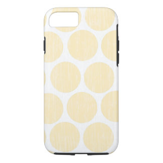 Light Yellow Distressed Polka Dot iPhone 7 iPhone 8/7 Case