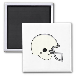 Light Yellow Football Helmet 2 Inch Square Magnet